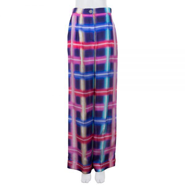Large Neon Print Silk Pants by Chanel - Le Dressing Monaco