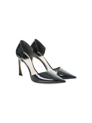 Black Patent Leather and Plastic Pump by Christian Dior - Le Dressing Monaco