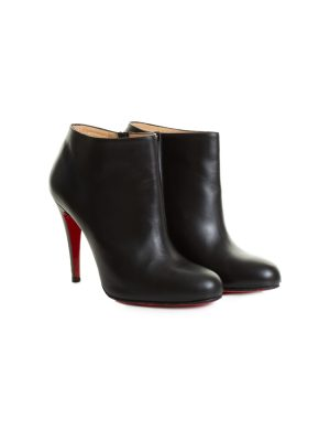 Black Leather High Heel Ankle Boots by Christian Louboutin - Le Dressing Monaco