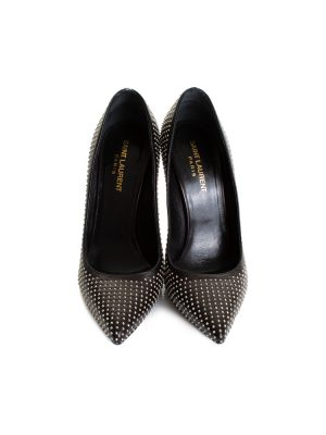 Studded Black High Heel Pumps by Saint Laurent - Le Dressing Monaco