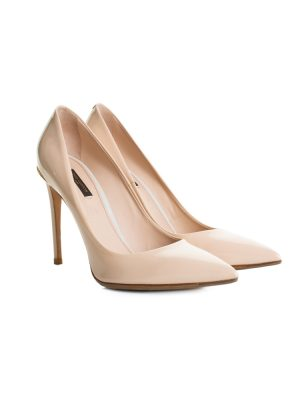 Nude Patent Leather High Heel Pumps by Louis Vuitton - Le Dressing Monaco