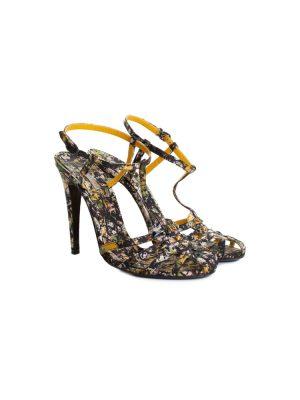 Pollock Silk High Heel Sandals by Bottega Veneta - Le Dressing Monaco