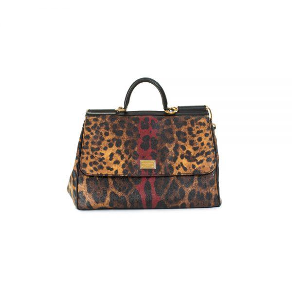 Leopard Sicily Handbag by Dolce e Gabbana - Le Dressing Monaco