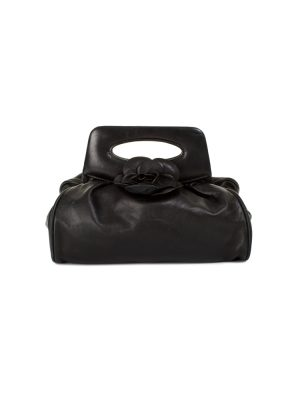 Mini Camellia Black Leather Handbag by Chanel - Le Dressing Monaco