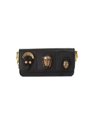 African Masks Black Leather Handbag by Valentino - Le Dressing Monaco