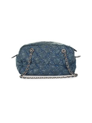 Blue Quilted Nylon Handbag by Chanel - Le Dressing Monaco