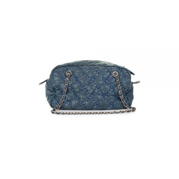 Blue Nylon Tweed Stitch Bubble Shoulder Bag by Chanel - Le Dressing Monaco