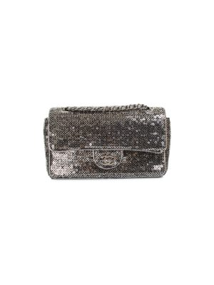 Silver Sequins Timeless Flapbag by Chanel - Le Dressing Monaco