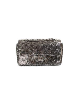 Silver Sequins Classic Flap Bag by Chanel - Le Dressing Monaco
