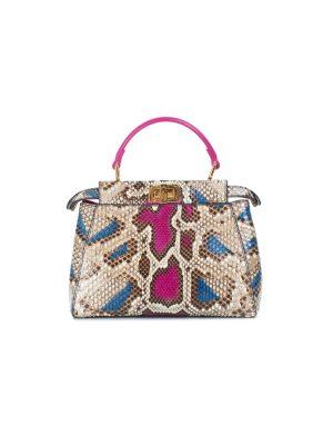 Mini Python Leather Peekaboo Handbag by Fendi - Le Dressing Monaco