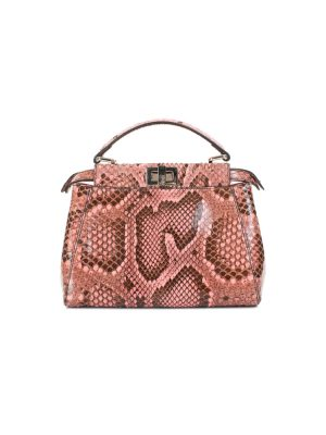 Mini Nappa Shiny Python Peekaboo Handbag by Fendi - Le Dressing Monaco