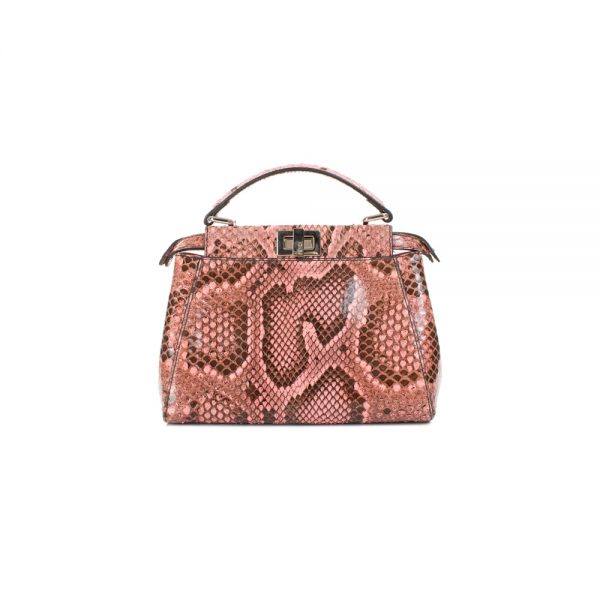Mini Nappa Shiny Python Peekaboo Handbag by Fendi - Le Dressing Monaco