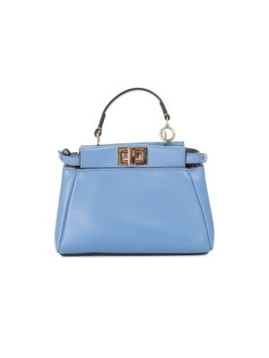 Nano Crossbody Baby Blue Peekaboo by Fendi - Le Dressing Monaco