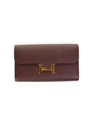 Long Constance Wallet Epsom Leather by Hermès - Le Dressing Monaco