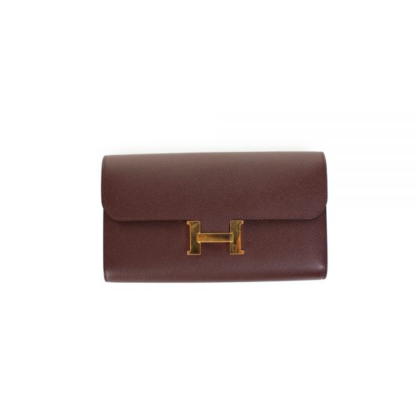 Red Long Constance Wallet Epsom Leather by Hermès - Le Dressing Monaco