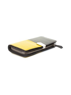 Yellow and Grey Leather Wallet by Fendi - Le Dressing Monaco