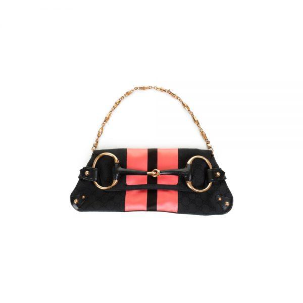 Satin Monogram Horse Bite Handbag by Gucci - Le Dressing Monaco