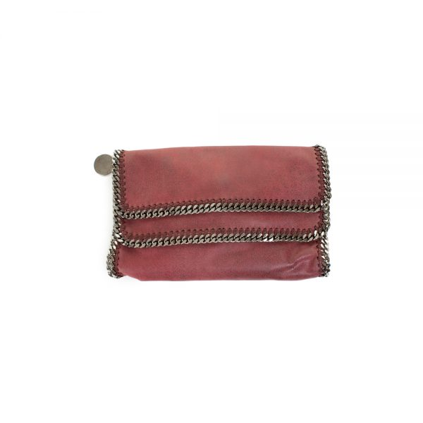 Falabella Pink Double Flap Clutch by Stella McCartney - Le Dressing Monaco