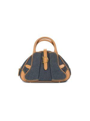 Denim Double Saddle Handbag by Christian Dior - Le Dressing Monaco