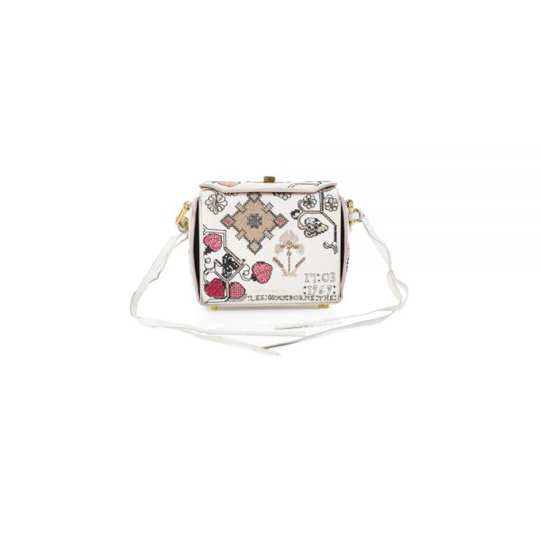 Embroidered Strawberries Box Bag by Alexander McQueen - Le Dressing Monaco