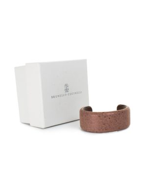 Brown Ostrich Leather Bracelet by Brunello Cucinelli - Le Dressing Monaco