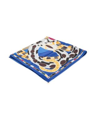 Blue Serpenti Silk Scarf by Bulgari - Le Dressing Monaco