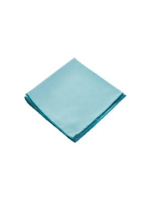 Plain Turquoise Silk Pocket Square by Hermès - Le Dressing Monaco