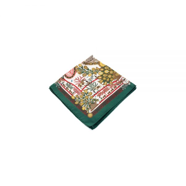 Découpages Silk Pocket Square by Hermès - Le Dressing Monaco