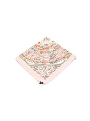 Pink Dies et Hore Silk Pocket Square by Hermès - Le Dressing Monaco
