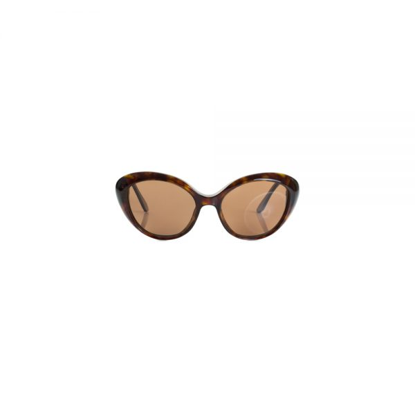 Brown Plastic Butterfly Sunglasses by Christian Dior - Le Dressing Monaco