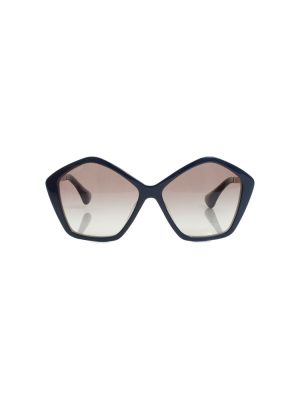 Pentagonal Blue Sunglasses by Miu Miu - Le Dressing Monaco