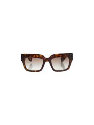 Square Brown Plastic Sun Glasses by Prada - Le Dressing Monaco
