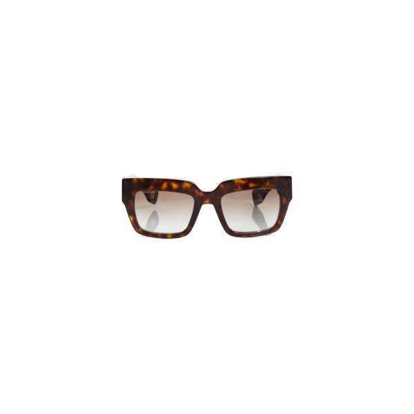 Square Brown Plastic Sun Glasses by Prada - Le Dressing Monaco