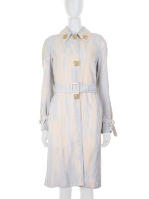 Tie and Dye Gold Buttoned Trench by Céline - Le Dressing Monaco