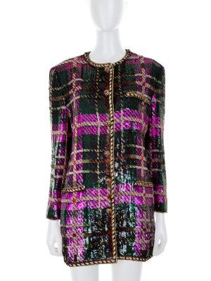 Multicolored Sequin Jacket by Oscar De La Renta - Le Dressing Monaco