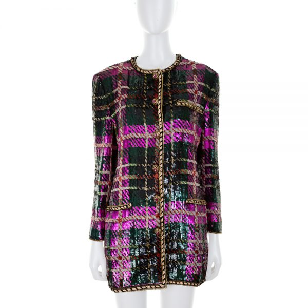 Multicolored Sequin Jacket by Oscar De La Renta - Le Dressing Monaco