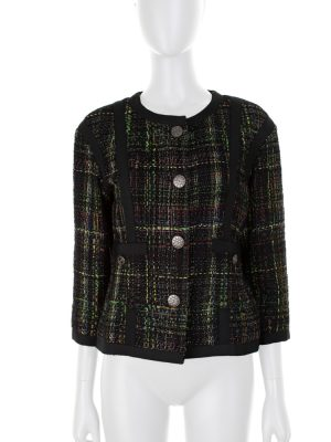 Dark Multicolored Bouclé Jacket by Chanel - Le Dressing Monaco