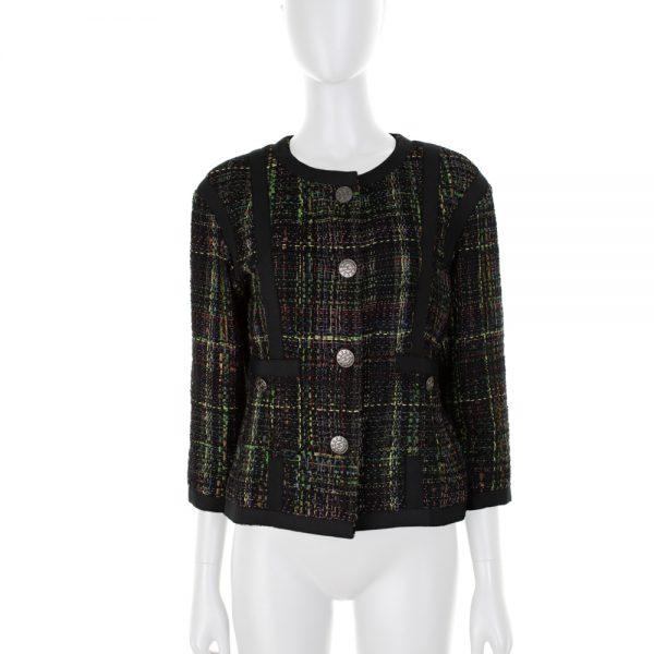 Dark Multicolored Bouclé Jacket by Chanel - Le Dressing Monaco