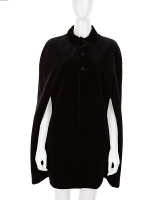 Black Velvet Cape by Saint Laurent - Le Dressing Monaco