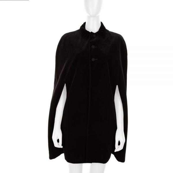 Black Velvet Cape by Saint Laurent - Le Dressing Monaco