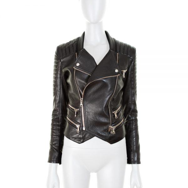 Black Leather Perfecto by Balmain - Le Dressing Monaco