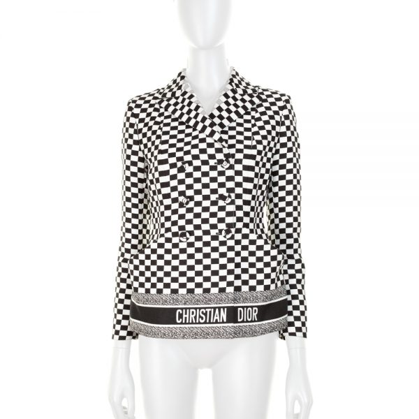 Checkered Jacket Spring 2018 by Christian Dior - Le Dressing Monaco