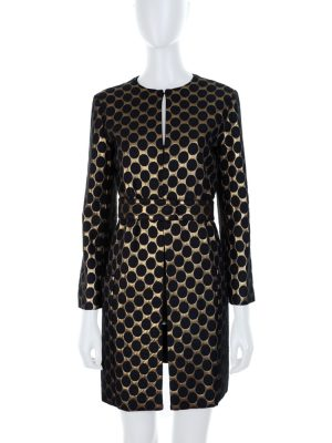 Brocart Belted Evening Coat by Diane Von Furstenberg - Le Dressing Monaco