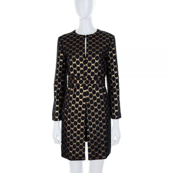 Brocart Belted Evening Coat by Diane Von Furstenberg - Le Dressing Monaco