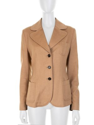 Two Pocketed Beige Wool Jacket by Prada - Le Dressing Monaco