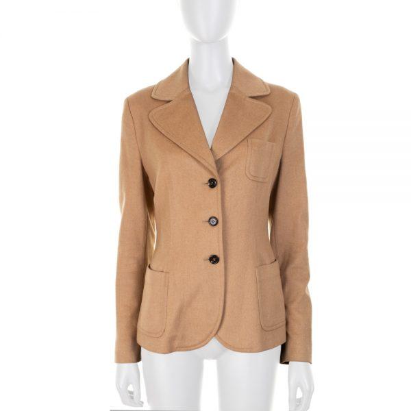 Two Pocketed Beige Wool Jacket by Prada - Le Dressing Monaco