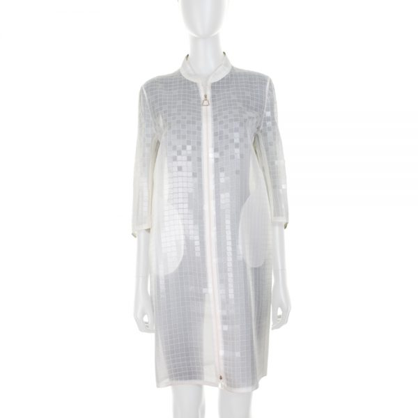 Zipped Transparent Plastic Squares Jacket by Akris - Le Dressing Monaco