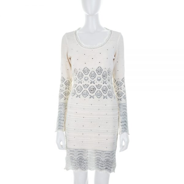 Knitted Cream Color Dress by John Galliano - Le Dressing Monaco