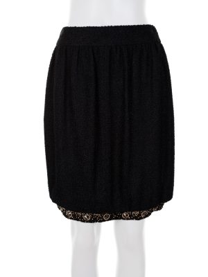 Bubble Skirt with Embellished Bottom Line by Chanel - Le Dressing Monaco