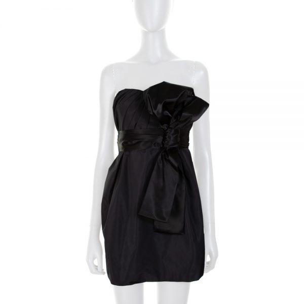 Black Large Knot Bustier Mini Dress by Dolce e Gabbana - Le Dressing Monaco